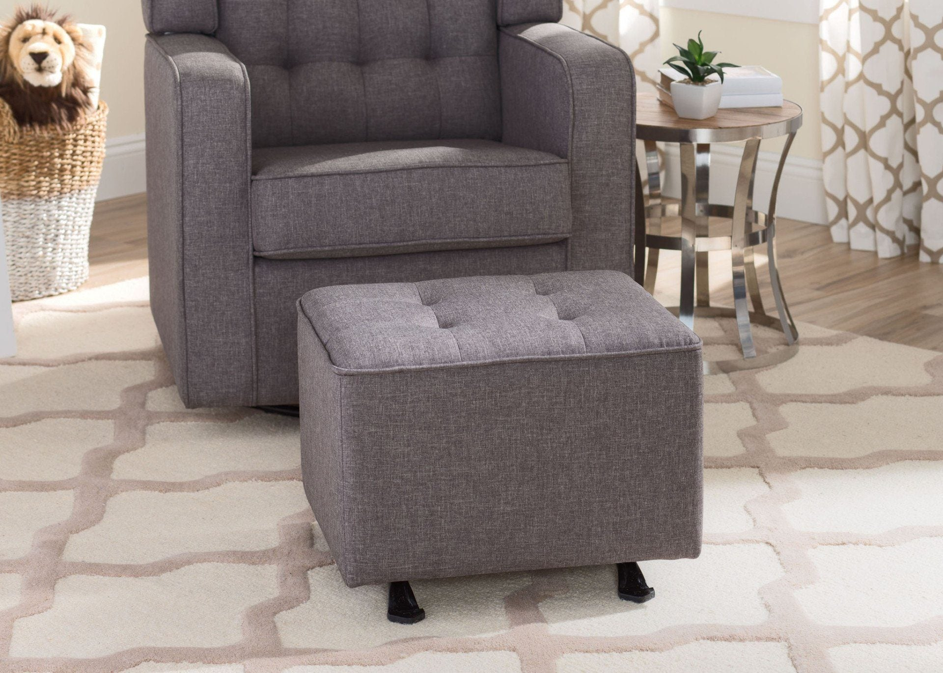 Lovely Delta Children Sweet Dark Grey (3101) Milan Tufted Nursery Gliding Ottoman,  Hangtag B2b ...