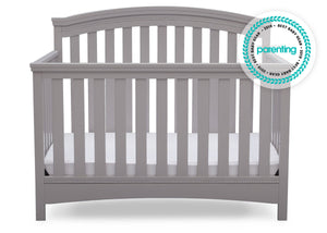 Delta Children Grey (026) Emerson 4-in-1 Crib, Front Crib View a3a