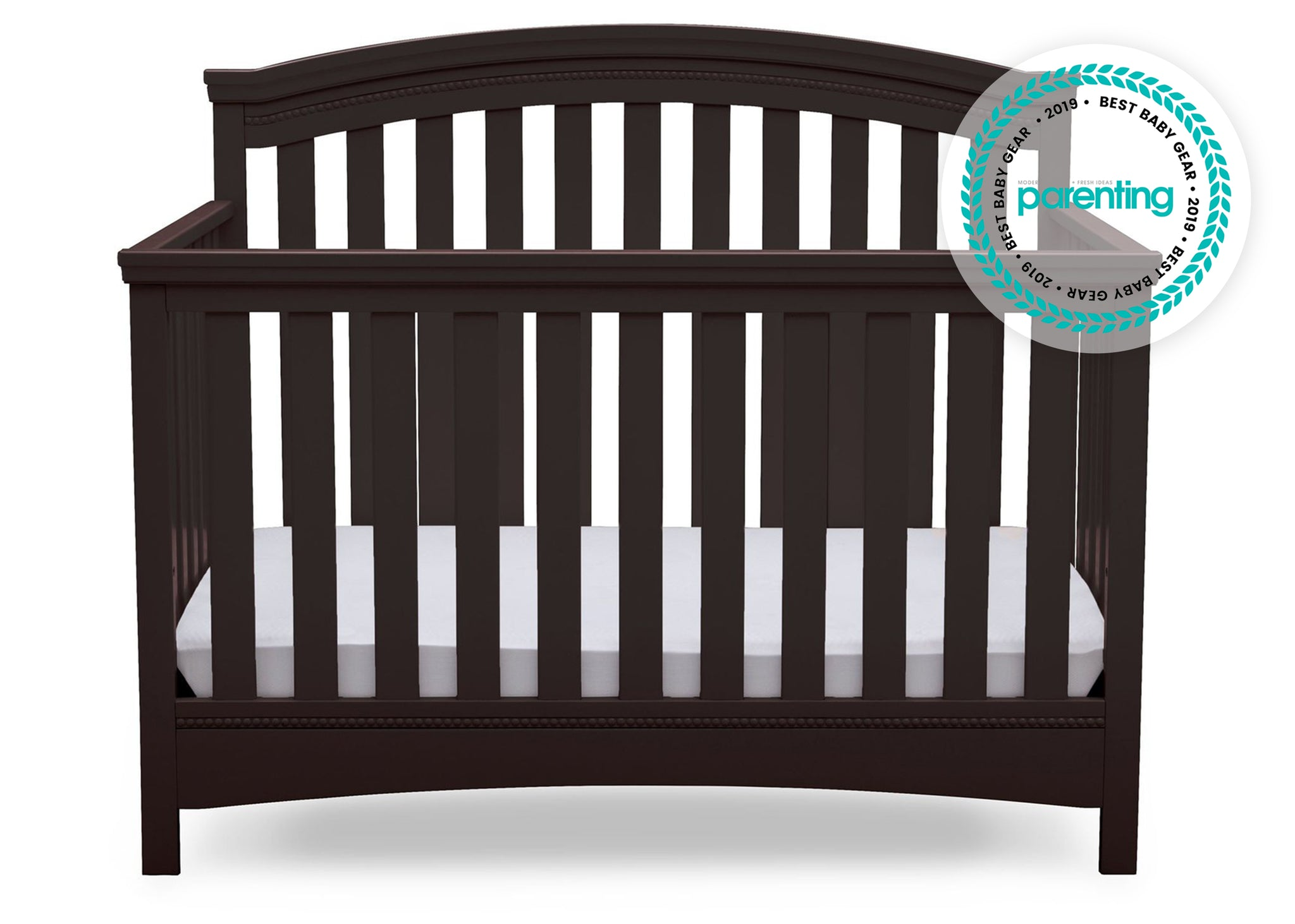 Delta Children Dark Chocolate (207) Emerson 4-in-1 Crib, front view, c2c