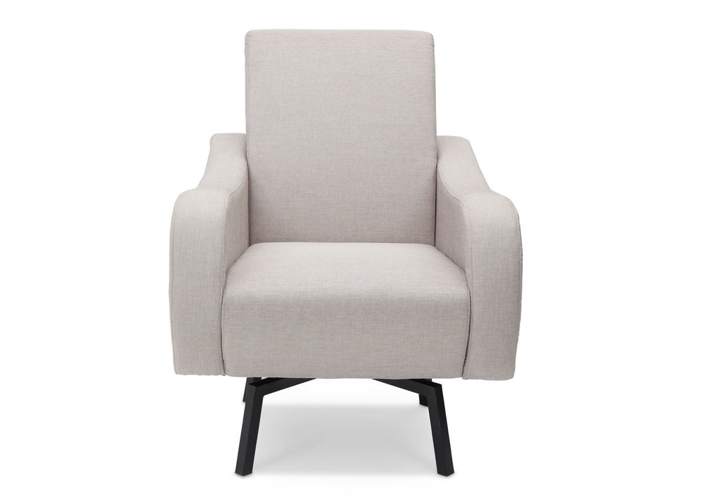 Delta Children Cool Grey (063) Lux Swivel Chair (51210) Front View a1a