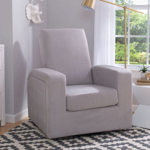 Delta Children Dove Grey (034) Gateway Nursery Glider Swivel Rocker Chair, room view, a1a