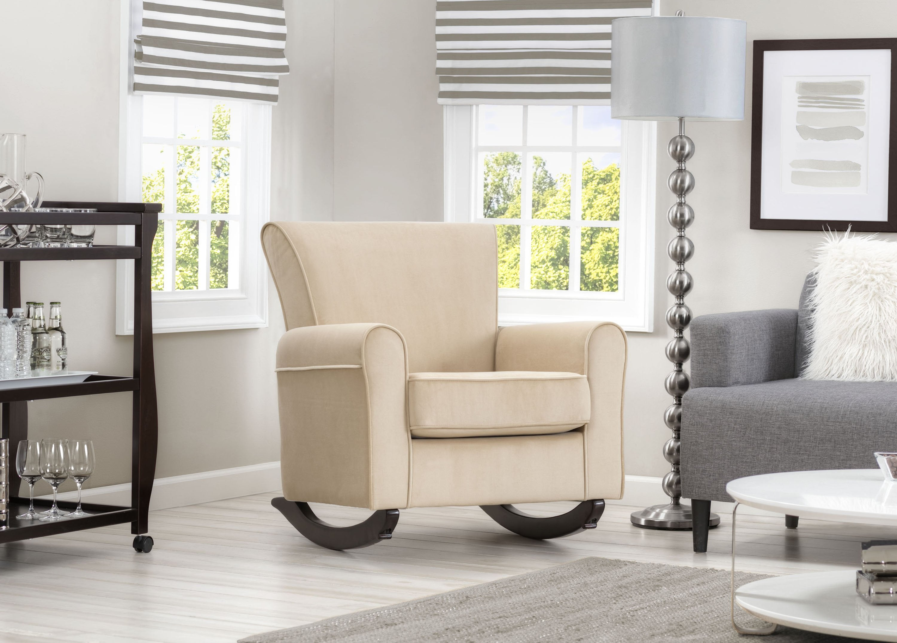 Lancaster Rocking Chair featuring LiveSmart Fabric by Culp | Delta ...