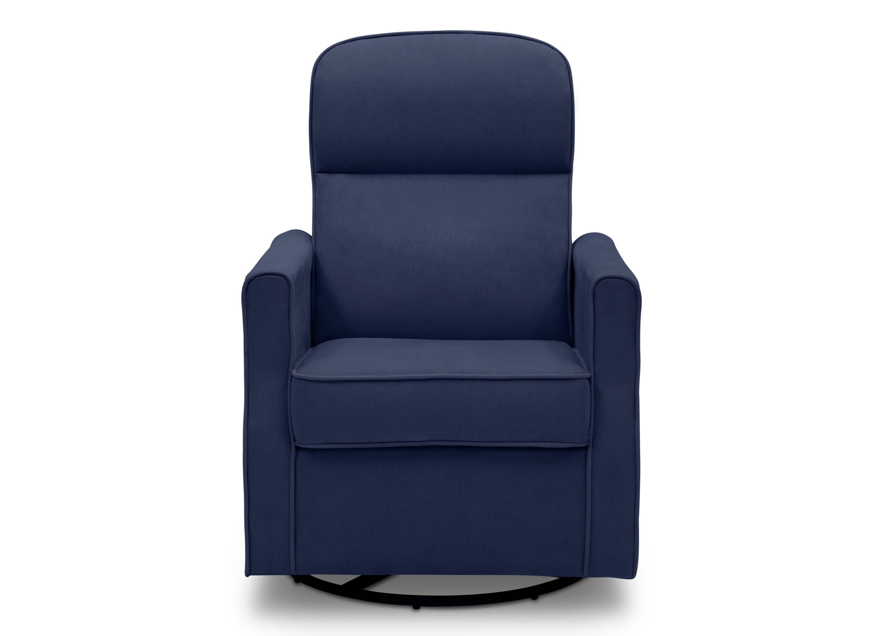 swivel and rocking chairs. Delta Children Navy (467) Clair Petite Nursery Glider Swivel Rocker Chair, Front View And Rocking Chairs