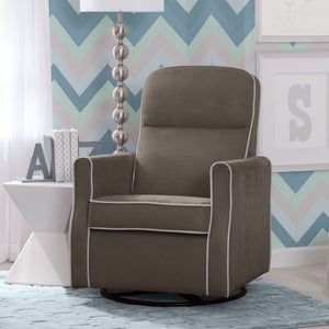 Clair Slim Nursery Glider Swivel Rocker Chair