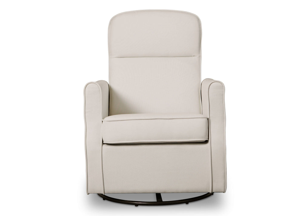 Delta Children Cream (743)Blair Slim Nursery Glider Swivel Rocker Chair, front view, b2b