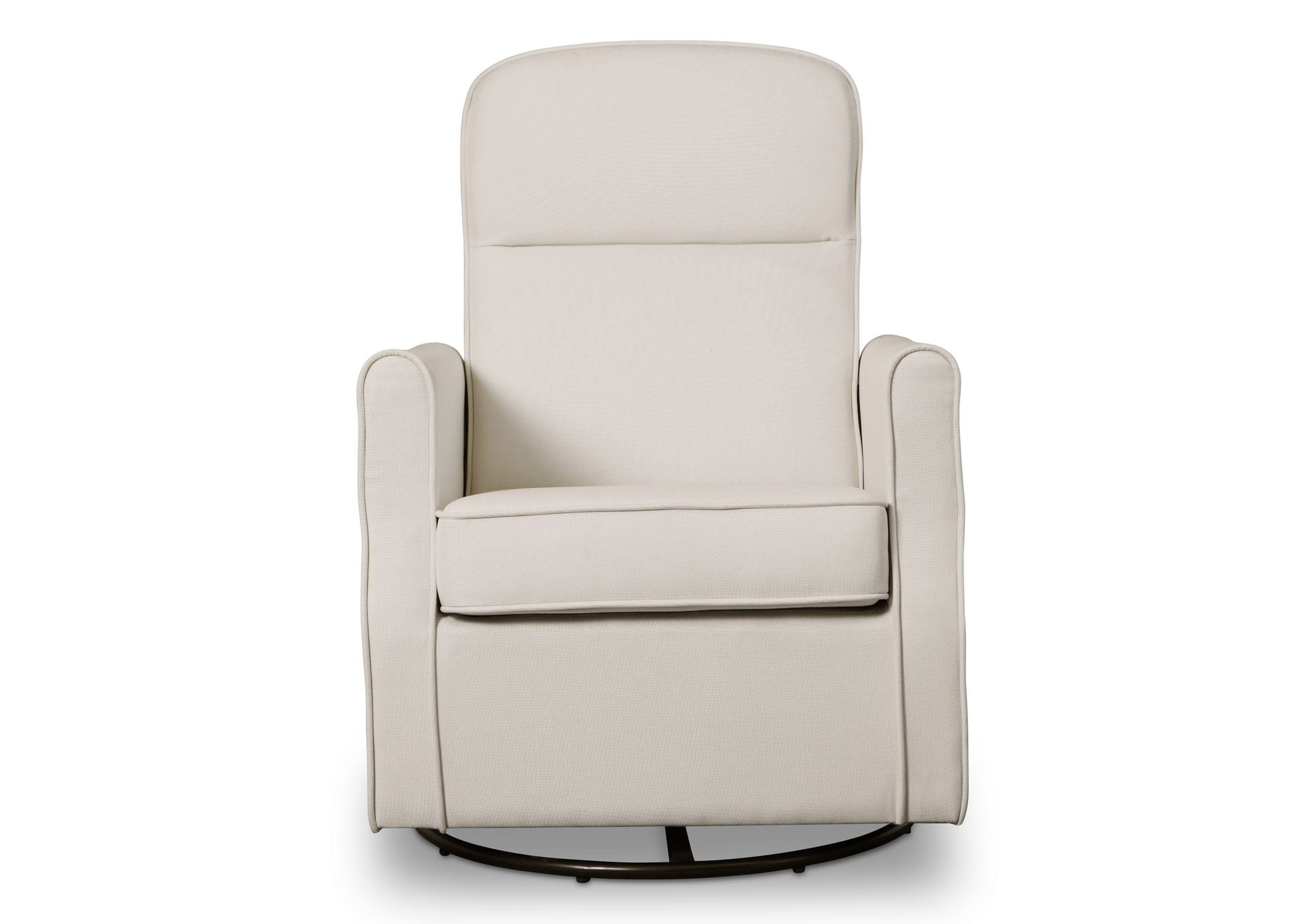 Delta Children Cream (743) Blair Slim Nursery Glider Swivel Rocker Chair, front view, b2b