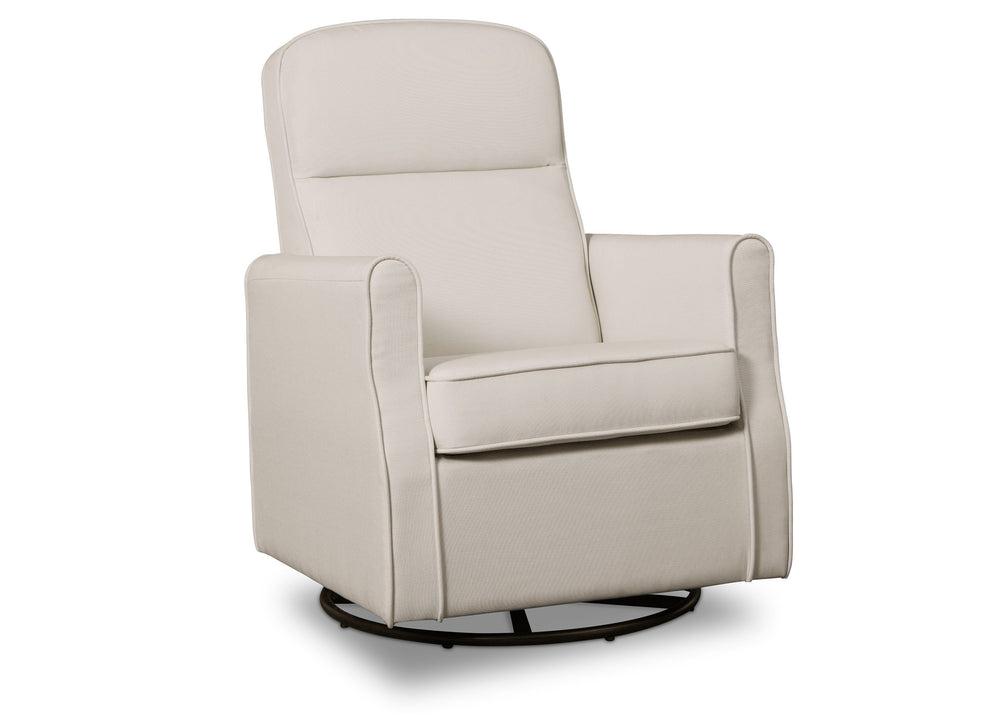 Delta Children Cream (743)Blair Slim Nursery Glider Swivel Rocker Chair, angled view, b3b