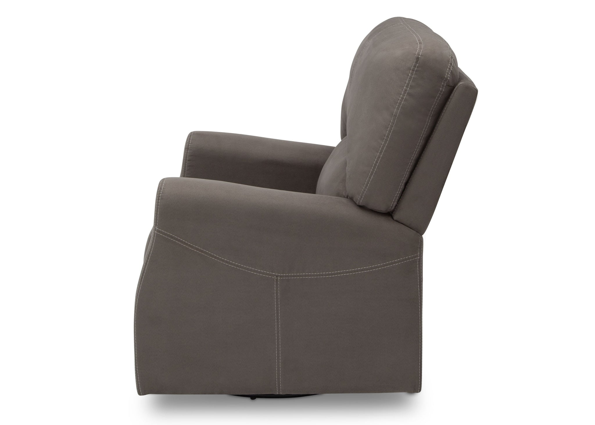 Delta Children Graphite (018) Marshall Nursery Glider Swivel Rocker Chair, left side view, a4a