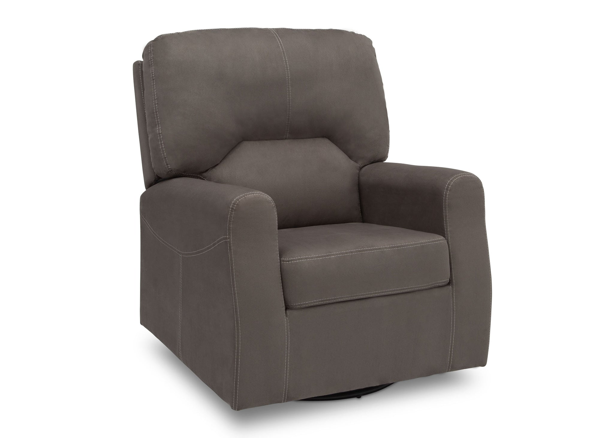 Delta Children Graphite (018) Marshall Nursery Glider Swivel Rocker Chair, right side view, a3a