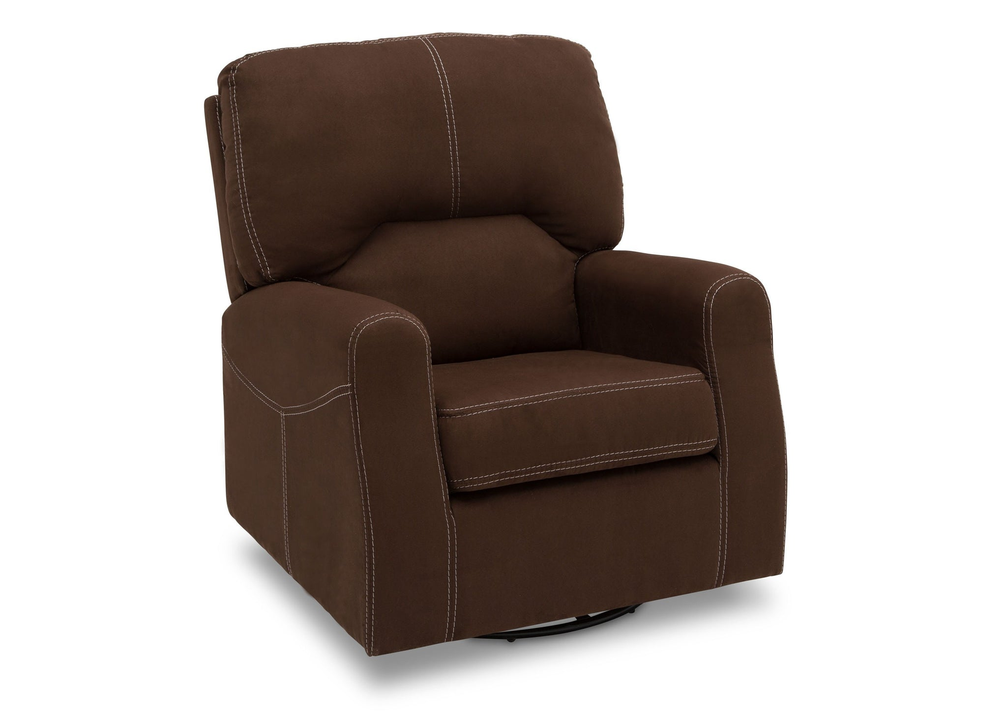 Delta Children Cocoa (258) Marshall Nursery Glider Swivel Rocker Chair, right side view, b3b