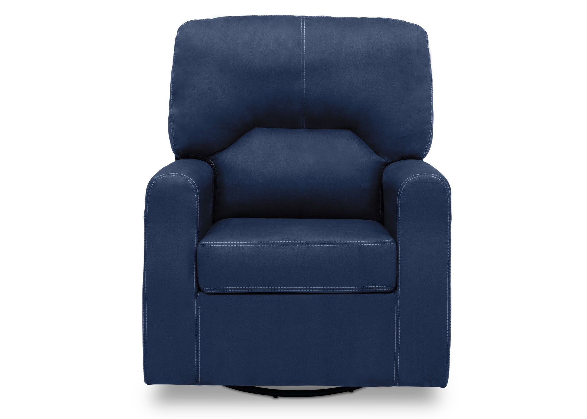 Delta Children Navy (467) Marshall Nursery Glider Swivel Rocker Chair, front view, c2c