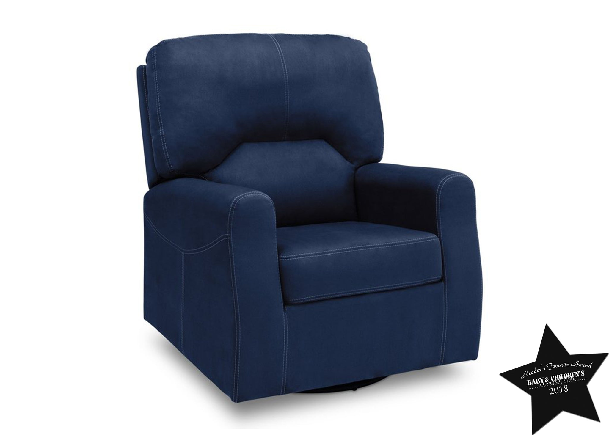 Delta Children Navy (467) Marshall Nursery Glider Swivel Rocker Chair, With Seal, c5c