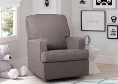 Delta Children French Grey (1304) Henry Nursery Glider Swivel Rocker Chair, hangtag, c1c