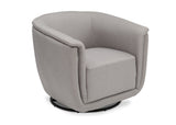 Delta Children French Grey (1304) Skylar Nursery Glider Swivel Rocker Tub Chair (521310), Right Angle, d4d