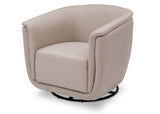 Delta Children Flax (710) Skylar Nursery Glider Swivel Rocker Tub Chair (521310), Left Angle, a5a
