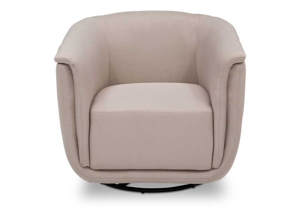 Delta Children Flax (710) Skylar Nursery Glider Swivel Rocker Tub Chair (521310), Straight, a3a