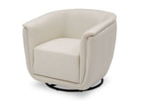 Delta Children Cream (743) Skylar Nursery Glider Swivel Rocker Tub Chair (521310), Left Angle, b5b