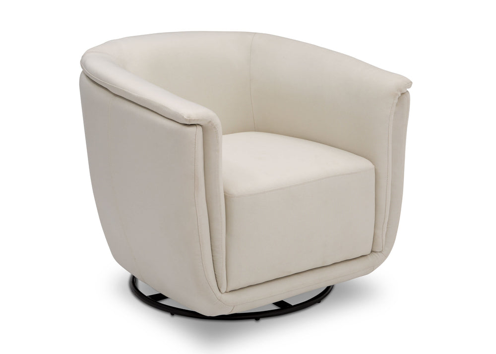 Delta Children Cream (743) Skylar Nursery Glider Swivel Rocker Tub Chair (521310), Right Angle, b4b