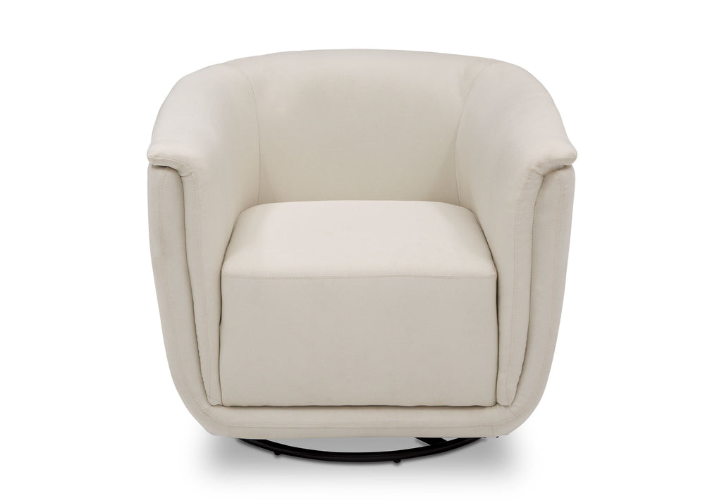 Delta Children Cream (743) Skylar Nursery Glider Swivel Rocker Tub Chair (521310), Straight, b3b