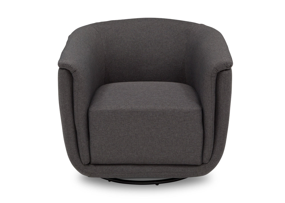 Delta Children Charcoal Grey (931) Skylar Nursery Glider Swivel Rocker Tub Chair (521310), Straight, c3c