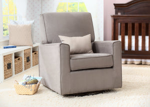Delta children, Graphite (018) Aster Nursery Glider Swivel Rocker Chair, Hangtag a0a