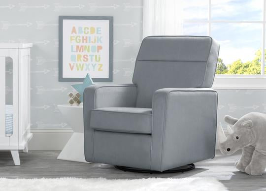 Willow Nursery Glider Swivel Rocker Chair Featuring LiveSmart Fabric by Culp