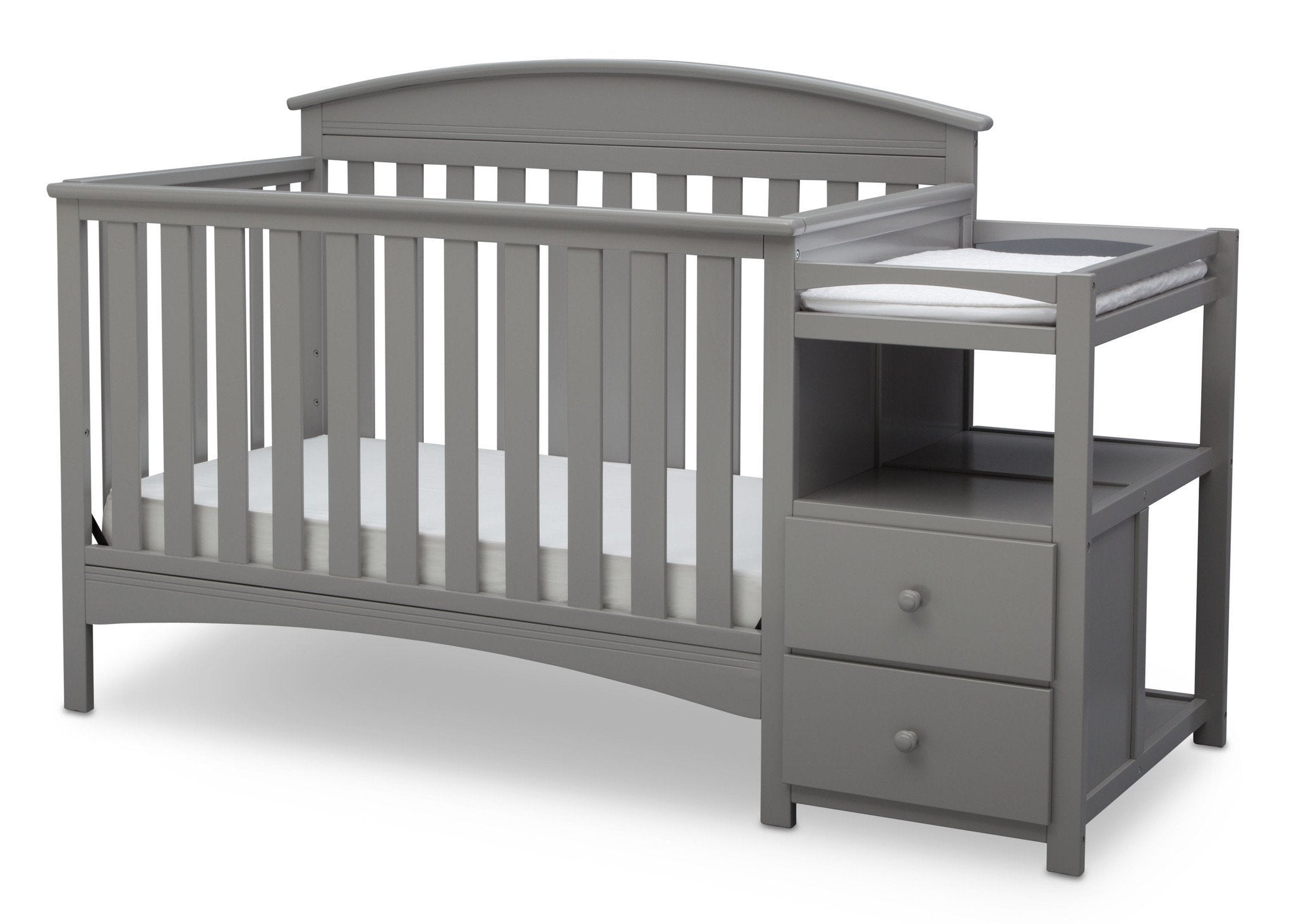 Delta Children Grey (026) Abby Crib N Changer, Left View a3a