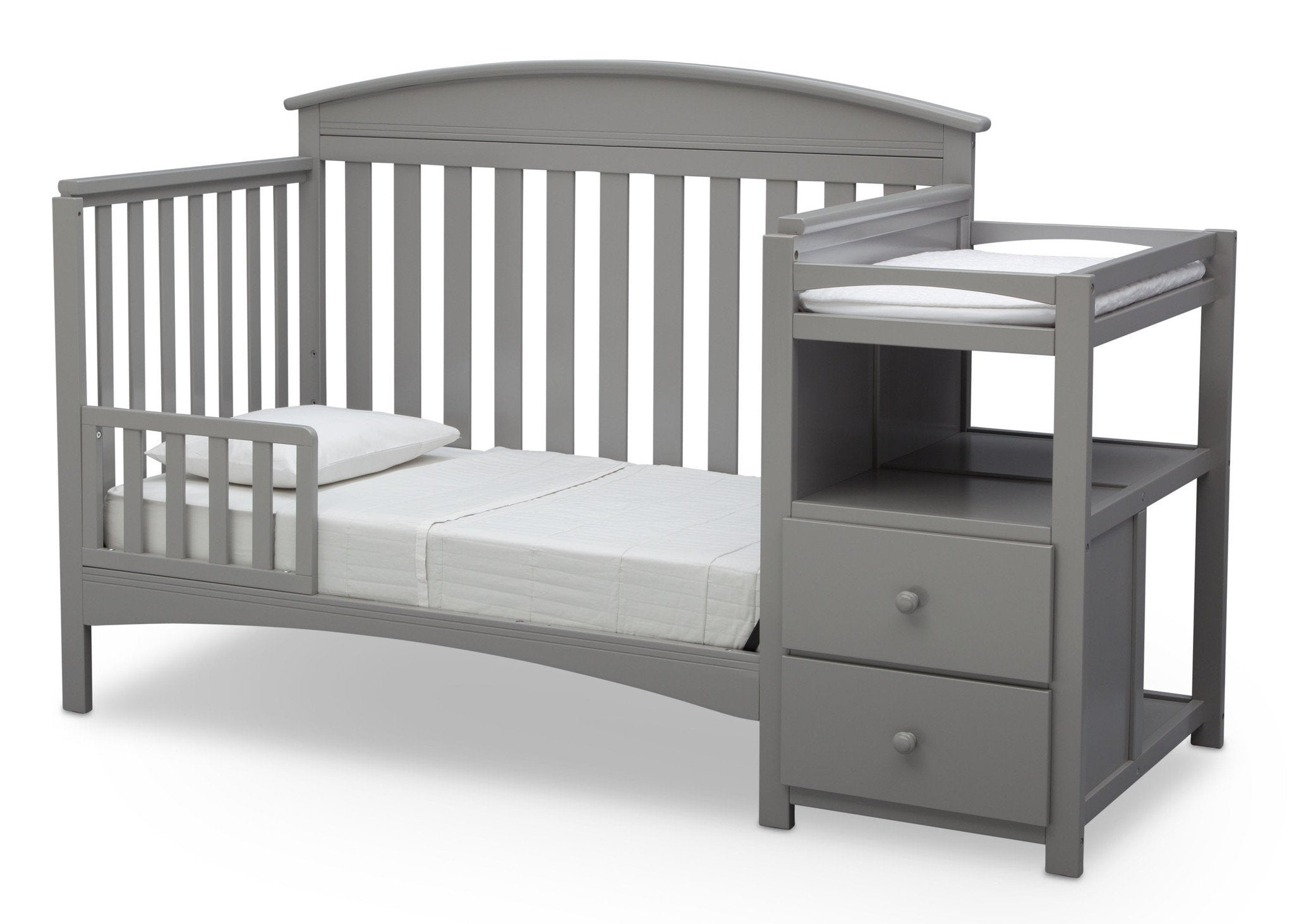 Delta Children Grey (026) Abby Crib N Changer, Toddler bed a4a