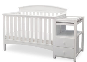 Delta Children Bianca White (130) Abby Crib N Changer, b3b