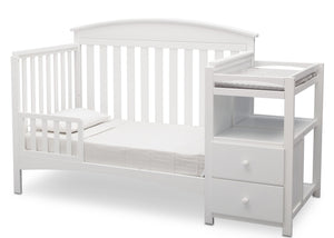 Delta Children Bianca White (130) Abby Crib N Changer, b4b