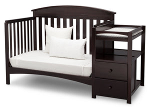 Delta Children Dark Chocolate (207) Abby Crib N Changer c5c