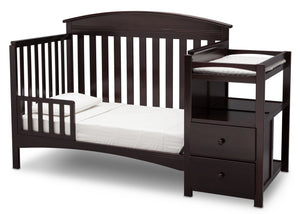 Delta Children Dark Chocolate (207) Abby Crib N Changer c4c