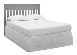 Delta Children Grey (026) Presley Convertible Crib N Changer (530260), Full Size Bed, a6a