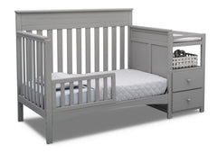 Delta Children Grey (026) Presley Convertible Crib N Changer (530260), Toddler Bed, a4a