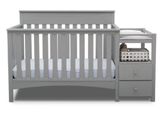 Delta Children Grey (026) Presley Convertible Crib N Changer (530260), Straight, a2a