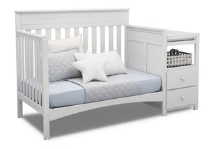 Delta Children Bianca White (130) Presley Convertible Crib N Changer (530260), Day Bed, b5b