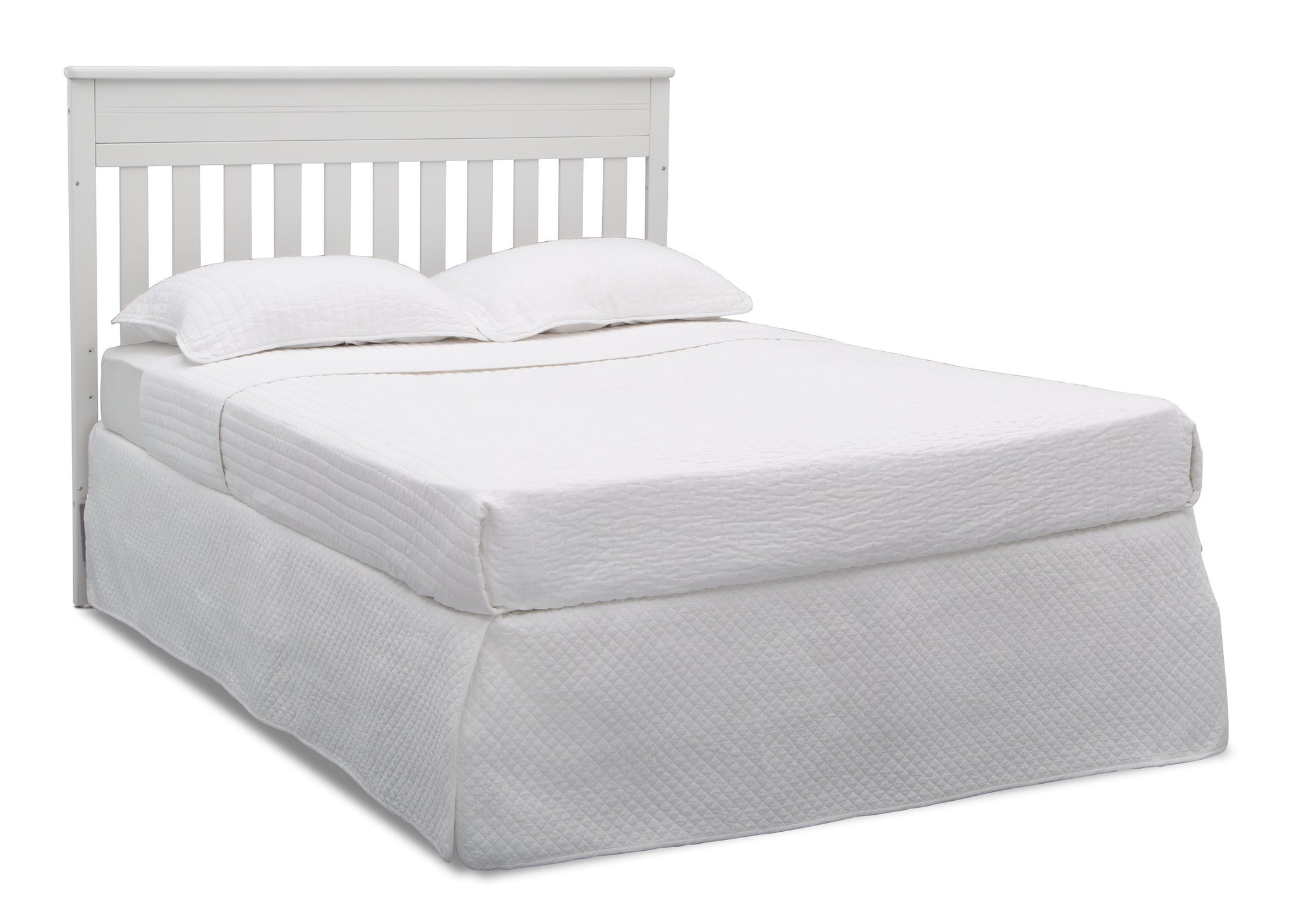 Delta Children Bianca White (130) Presley Convertible Crib N Changer (530260), Full Size Bed, b6b