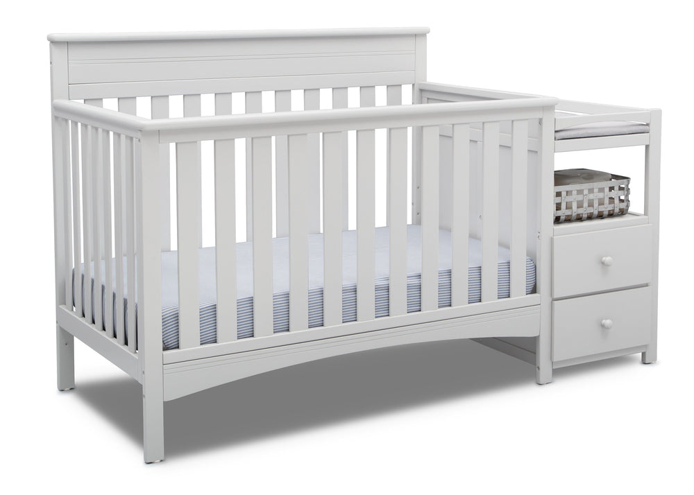 Delta Children Bianca (130) Presley Convertible Crib N Changer (530260), Right Angle, b3b