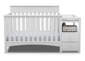 Delta Children Bianca White (130) Presley Convertible Crib N Changer (530260)