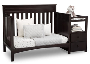 Delta Children Dark Chocolate (207) Presley Convertible Crib N Changer (530260), Day Bed, c5c