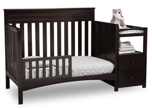 Delta Children Dark Chocolate (207) Presley Convertible Crib N Changer (530260), Toddler Bed, c4c