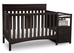 Delta Children Dark Chocolate (207) Presley Convertible Crib N Changer (530260), Right Angle, c3c