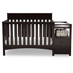 Presley Convertible Crib N Changer (Dark Chocolate)