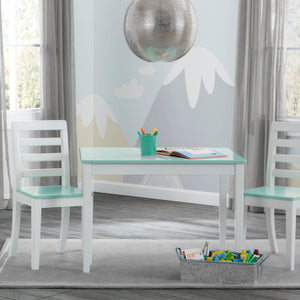 Delta Children Bianca with Aqua (134) Gateway Table & 2 Chair Set, Room View