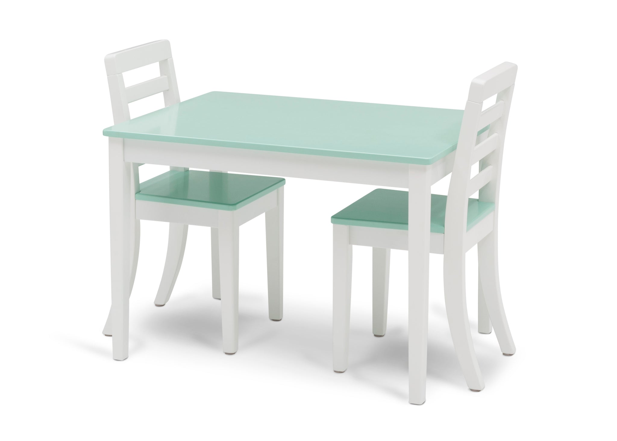 Delta Children Bianca with Aqua (134) Gateway Table & 2 Chair Set, Left Silo with Chairs In View