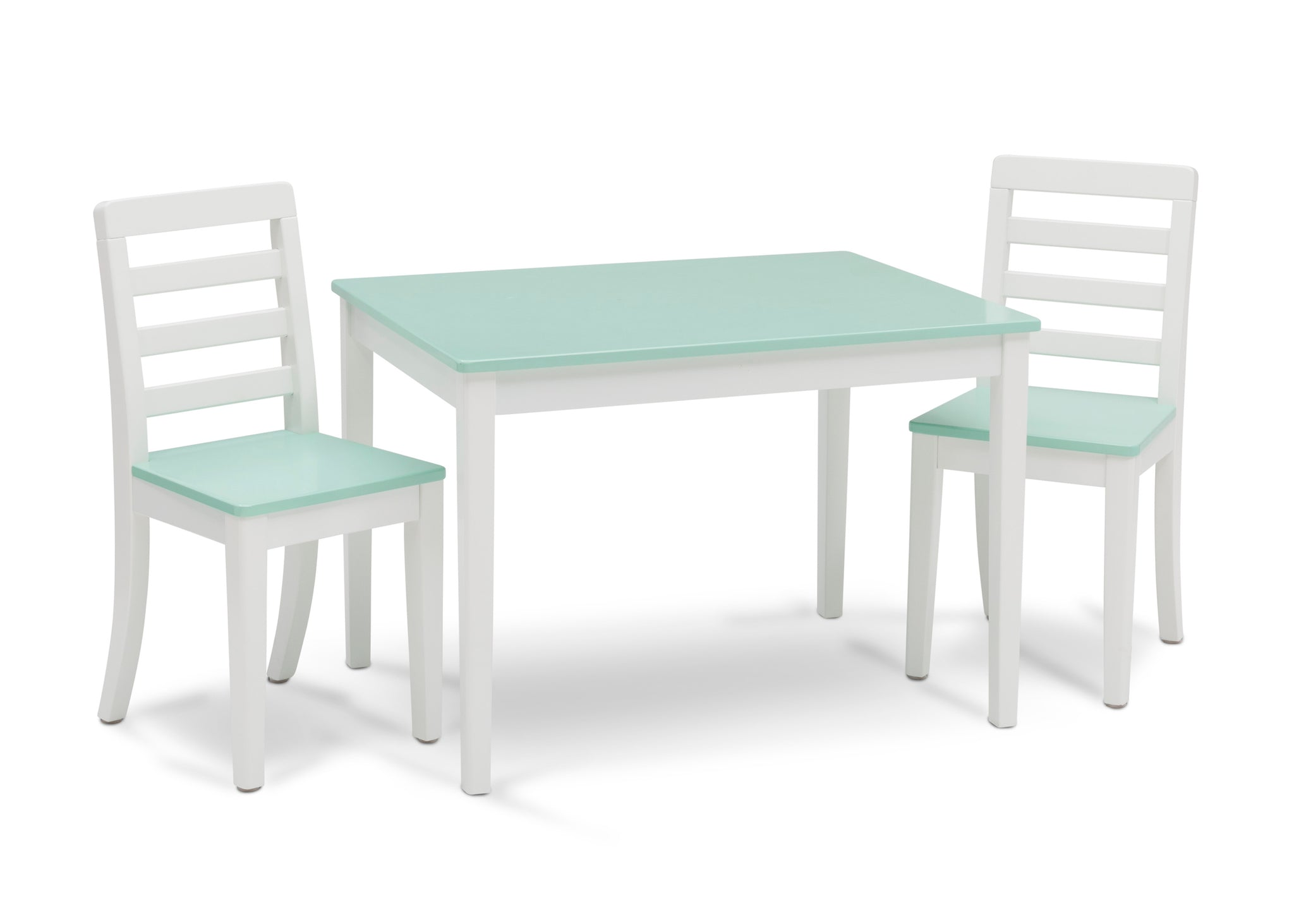 Delta Children Bianca with Aqua (134) Gateway Table & 2 Chair Set, Right Silo View