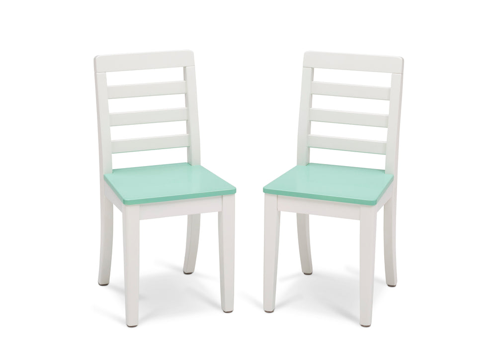 Delta Children Bianca with Aqua (134) Gateway Table & 2 Chair Set, Chairs Silo View