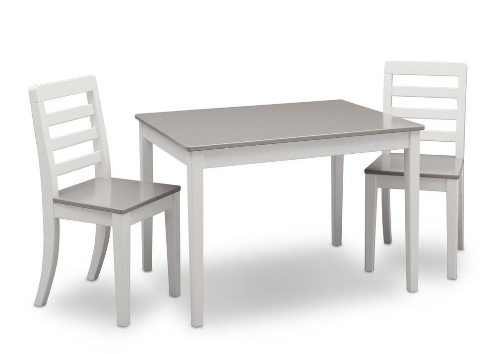 Delta Children Bianca with Grey (166) Gateway Table & 2 Chair Set, Right View a3a