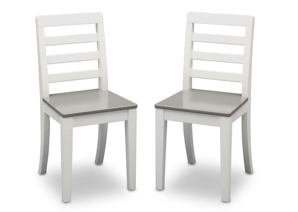 Delta Children Bianca with Grey (166) Gateway 2 Chairs, Front View a4a