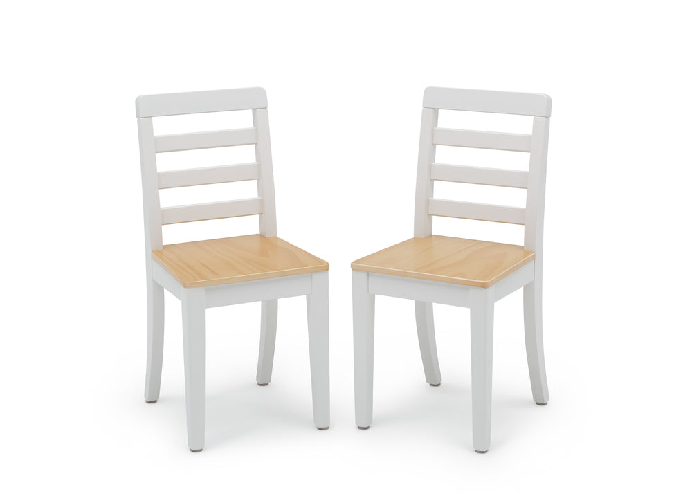 Delta Children White & Natural (196) Gateway Table & 2 Chair Set, Chairs View